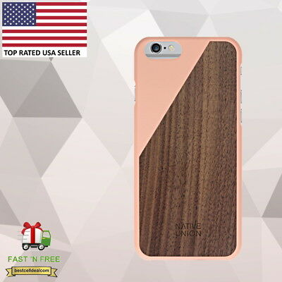 Native Union Clic Wooden Case For Iphone 6 Plus 6s Blossom Walnut
