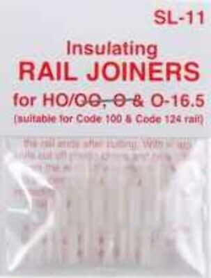 PECO HO INSULATED RAIL JOINER (12pc) sl11