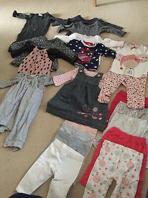 Girls Winter 21 Piece Bundle 3-6 Months Mainly Next, Some M&S, Mini Club, TU