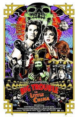 Big Trouble in Little China screenprint poster by James Rheem Davis AP Not Mondo