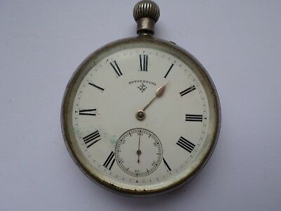 Antique hallmarked 1894 sterling silver cased Rotherhams pocket watch FOR REPAIR