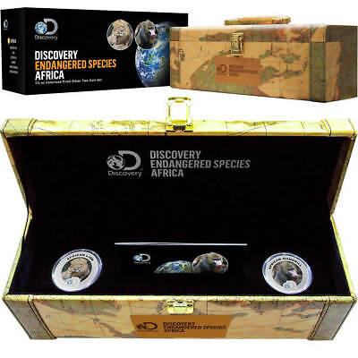2016 Niue 1.5 oz Proof Silver 2 Coin Set - African Endangered Species Collection