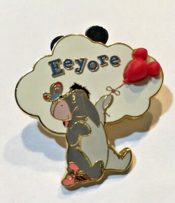 Disney Free D Pin #13531-Eeyore Holding Free-D (3D) Red Mickey Balloon/Butterfly