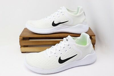 72c9ac93ea0 Nike Women s Free RN 2018 Running Shoes White Black 942837-100 Size 7.5 NEW