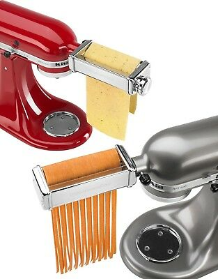 KitchenAid - Pasta Roller and Fettuccine Cutter Set - Stainless Steel