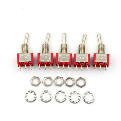 5 x Mini Momentary (On)Off(On) 6Pin Toggle Switch Model Railway SPDT 6mm HITo