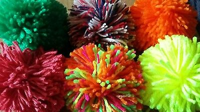 BULK - Handmade Large Wool Pompoms (approx 8cm) x 100 - many colours available