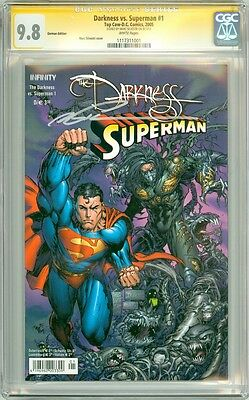 Darkness vs Superman #1 German Signed Marc Silvestri Signature Series CGC 9.8
