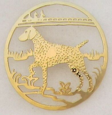 German Shorthaired Pointer Jewelry Gold Clutch Back Pin