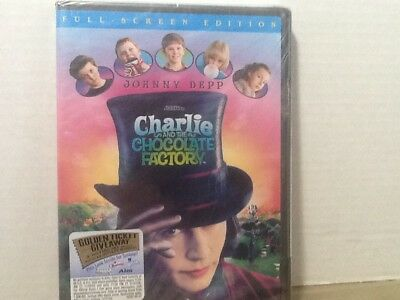 Charlie and the Chocolate Factory (Full Screen Edition,DVD,2005) New & Sealed