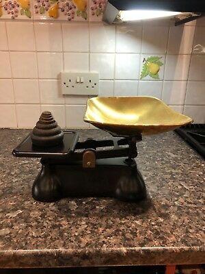 traditional kitchen scales with imperial weights
