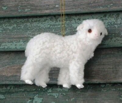 CODY FOSTER Adorable ~FUZZY LAMB ORNAMENT~ Brand New!