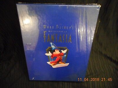WALT DISNEY FANTASIA DELUXE COLLECTORS EDITION BOX SET VHS LITHOGRAPH CDs BOOK