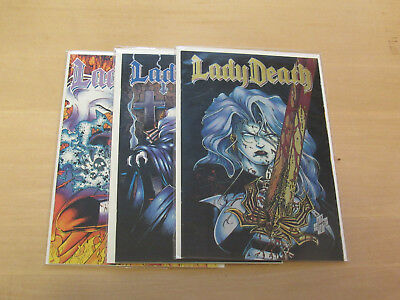 Lady Death #1, #2, & #3 Twilight of Innocence Complete Set (Chaos 1994)
