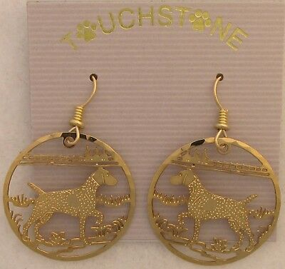 German Shorthaired Pointer Jewelry Gold Wire Earrings