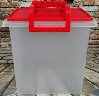 New Tupperware Large Carry All Container with A Red Handle & Red Lid. (BX1)
