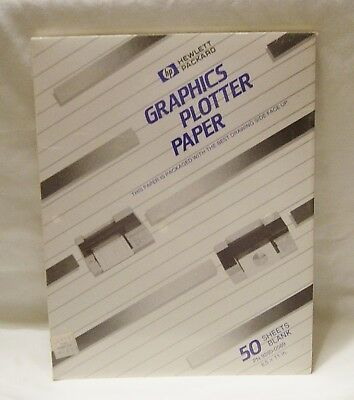 GRAPHICS PLOTTER PAPER HP HEWLETT PACKARD FACTORY SEALED 50 SHEETS 8.5 x 11 in.