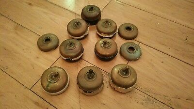 8 Vintage Brass Light Switches & Three Covers