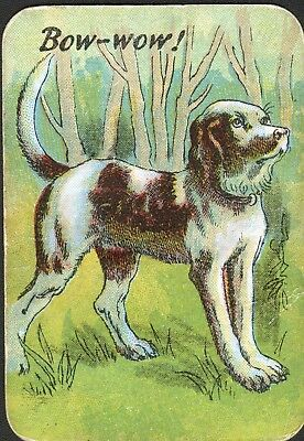 Dog English Pointer Bow-Wow! Victorian Playing Card- Swap Card!