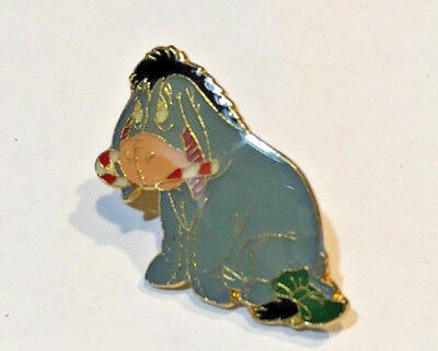 Disney Pin #25985-Eeyore With a Candy Cane-Pooh & Friends An Enchanted Christmas