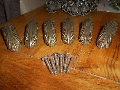 Six Vintage Door / Drawer Handles