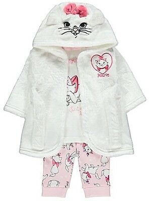 Disney Aristocats Baby Girls Dressing Gown & Pyjamas Marie Robe 3-24 Months New