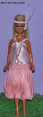 """Flapper Outfit Pink Made To Fit Pippa & Dawn Dolls Handmade Custom 6"""" No Doll"""