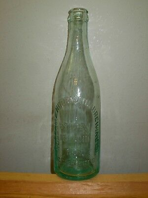 "Antique Beer Bottle RUBSAM & HORRMANN BREWING CO Staten Island NY 9 3/8"" Pre Pro"