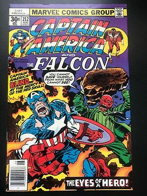 Captain America  #212  Vol 1 Marvel Comics  Cents Issue  VFN
