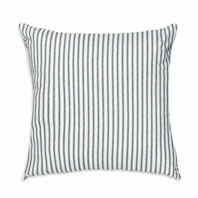 Navy Ticking Stripe Throw Pillow Cover    Farmhouse County Chic