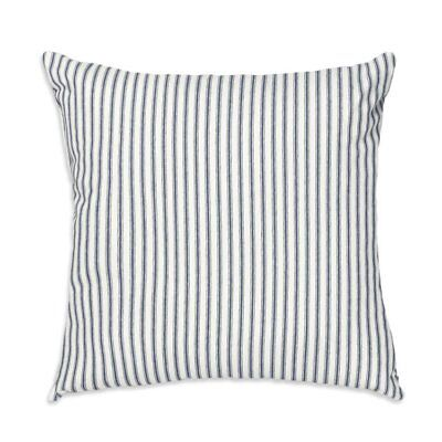 Navy Ticking Stripe Throw Pillow  Cover w/ Pillow Form  Farmhouse County Chic