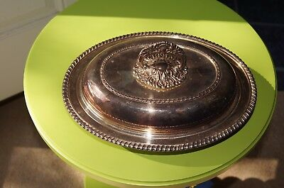 Vintage SHEFFIELD Company reproduction Sterling Silver Oval Serving Dish