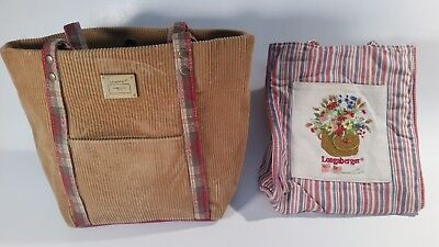 2 LONGABERGER Homestead tote lunch bags