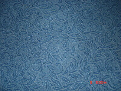 1980's damask look denim tablecloth very sophisticated casual