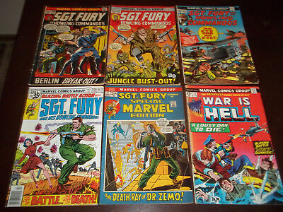 sgt. fury and his howling commandos -War is Hell - lot of 6 bronze age