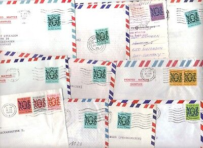 9657- Hong Kong , British Colonies, lot of 11 covers to Germany –