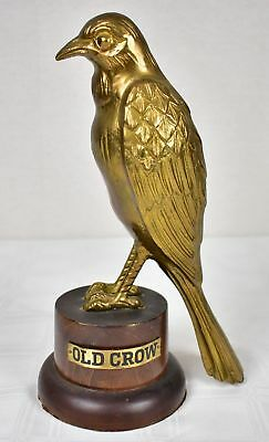 Vintage Old Crow Brass Store Display Bar Whiskey Statue