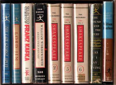 Modern Library Lot of 9 Books - Lot F