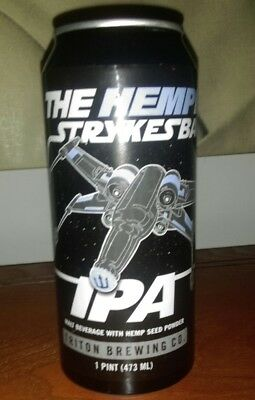 Limited Empty Triton Brewing The Hempire Strykes Back Star Wars Hemp Beer Can