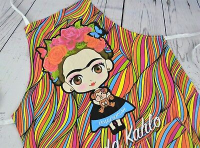 Frida Kahlo Apron Mexican Apron Chef Apron Cooking Apron With a Pocket One Size