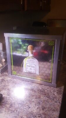 Patron Tequila  Display Case With Lock And Key