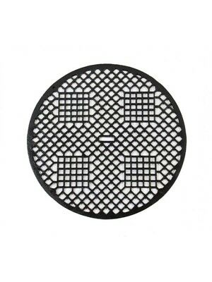 "19Th Century ""indian Lattice"" Pattern Circular Gravity Furnace Floor Grate"
