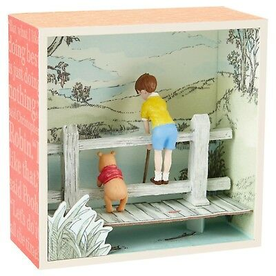 Hallmark Winnie the Pooh and Christopher Robin Shadow Box