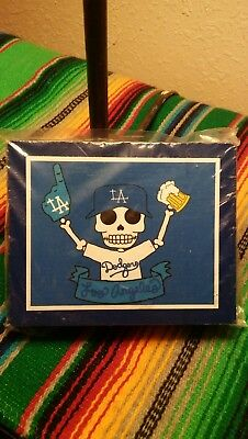 Los Angeles Dodgers Day of The Dead Plaque by Ninoska Arte