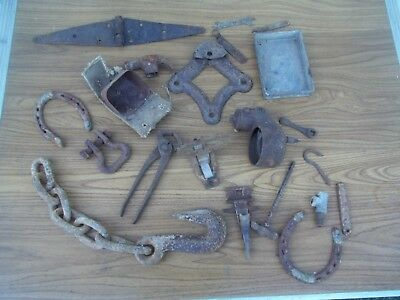 Vtg Rusty Metal Junk Lot Tools Crafts Old Barn Farm Find Steampunk Parts Art