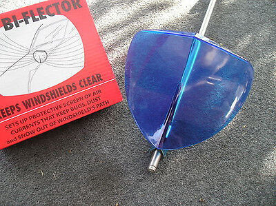 New Vintage Style Blue Windshield Bug Deflector !