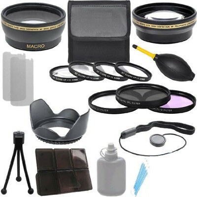 62mm Wide Angle Lens ,Telephoto Lens ,Filter Kit ,Close Up + Deluxe Kit