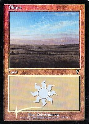 MTG - 7th Edition - Plains #342 - Foil - Various conditions
