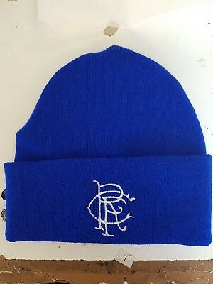 Glasgow Rangers retro style wooly HAT Beanie hat The Gers