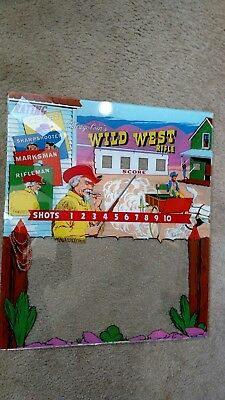 Chicago Coin's Wild west Back glass..